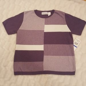 Nwt Alfred Dunner Windsor Castle sweater top pxl